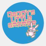 Daddy's Little Grrrrr Stickers