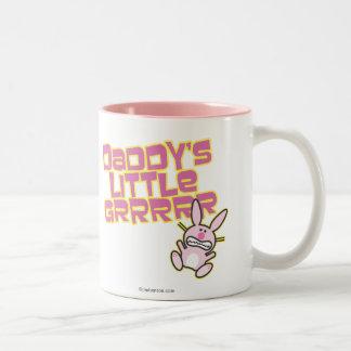 Daddy's Little Grrrrr Two-Tone Coffee Mug