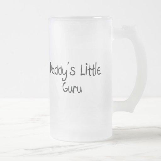 Daddy's Little Guru 16 Oz Frosted Glass Beer Mug