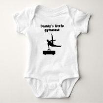 Daddy's Little Gymnast Baby Bodysuit
