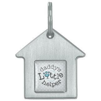 Daddys Little Helper Boy Pet ID Tag