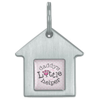 Daddys Little Helper Girl Pet Name Tag