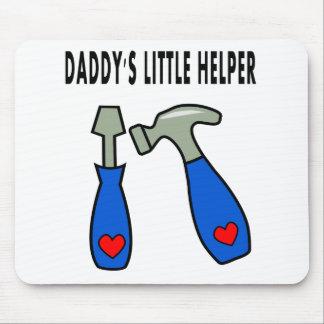 daddy's little helper hammer screwdriver cartoon mouse pad