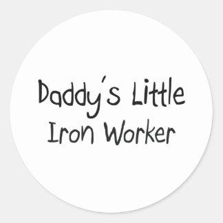 Daddy's Little Iron Worker Classic Round Sticker