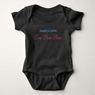 Daddy's Little Less Than Three Design Baby Bodysuit