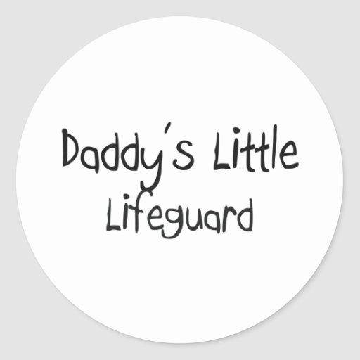 Daddy's Little Lifeguard Round Stickers