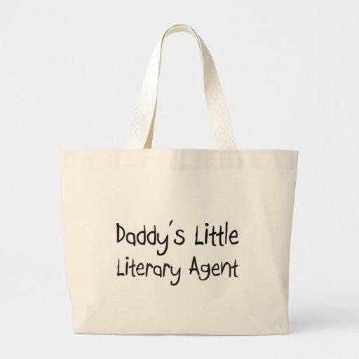 Daddy's Little Literary Agent Tote Bags