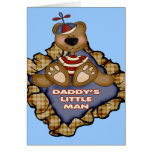 Daddys Little Man Greeting Cards