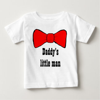 Daddy's Little Man Red Bow Tie Infant T Shirt