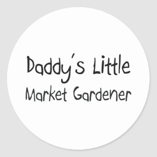 Daddy's Little Market Gardener Round Sticker
