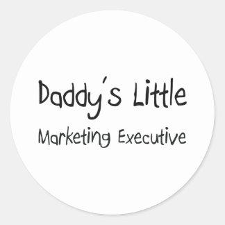 Daddy's Little Marketing Executive Classic Round Sticker