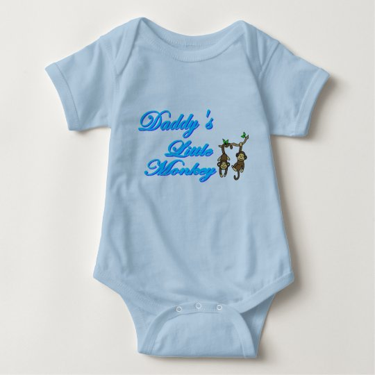 Daddy's Little Monkey Baby Bodysuit
