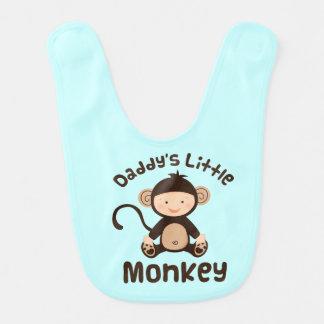 Daddy's Little Monkey Baby Boy Bib