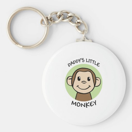 Daddy's Little Monkey Keychain