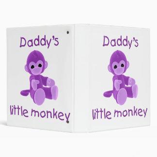 Daddy's Little Monkey (purple) 3 Ring Binders