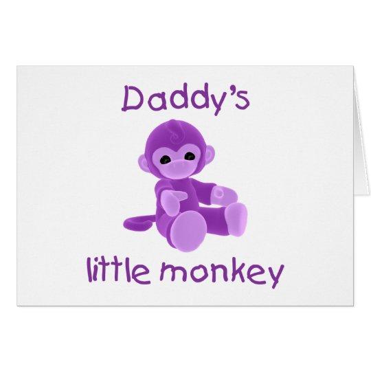 Daddy's Little Monkey (purple) Card
