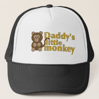 Daddy's little monkey trucker hat