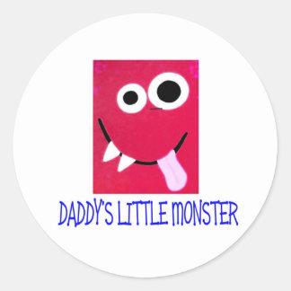 DADDY'S LITTLE MONSTER CLASSIC ROUND STICKER