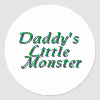 Daddy's Little Monster Classic Round Sticker
