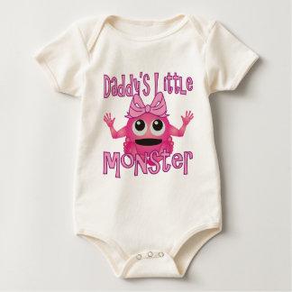 Daddy's Little Monster Girls Baby Bodysuit