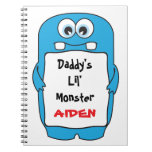 Daddy's Little Monster Spiral Note Books
