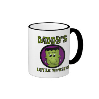 Daddy's Little Monster T-shirts and Gifts Ringer Mug