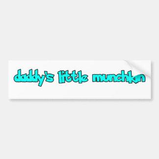 daddy's little munchkin bumper sticker