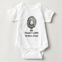 DADDY'S LITTLE MUTTON CHOP (SHEEP) BABY BODYSUIT