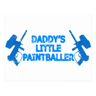 Daddy's Little Paintballer Postcard
