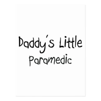 Daddy's Little Paramedic Post Cards