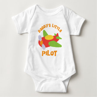 Daddy's Little Pilot Airplane Baby Bodysuit