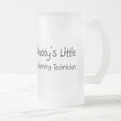 Daddy's Little Planning Technician 16 Oz Frosted Glass Beer Mug