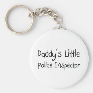 Daddy's Little Police Inspector Basic Round Button Keychain