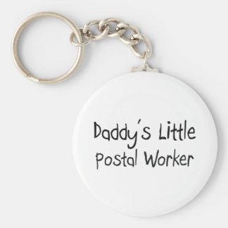 Daddy's Little Postal Worker Basic Round Button Keychain