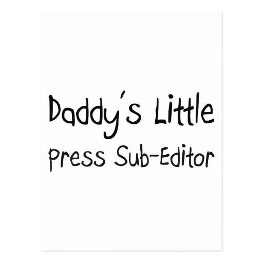 Daddy's Little Press Sub-Editor Postcard
