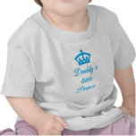 Daddy's little prince, text design with crown tee shirts