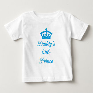 Daddy's little prince, text design with crown infant t-shirt