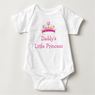 Daddy's Little Princess and Heart Crown Baby Bodysuit