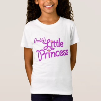 Daddy's Little Princess graphic text girl pink top