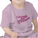 Daddy's Little Princess graphic text girl pink top T-shirts