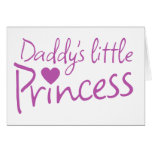 Daddys little princess greeting cards