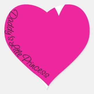 Daddy's Little Princess Heart Sticker
