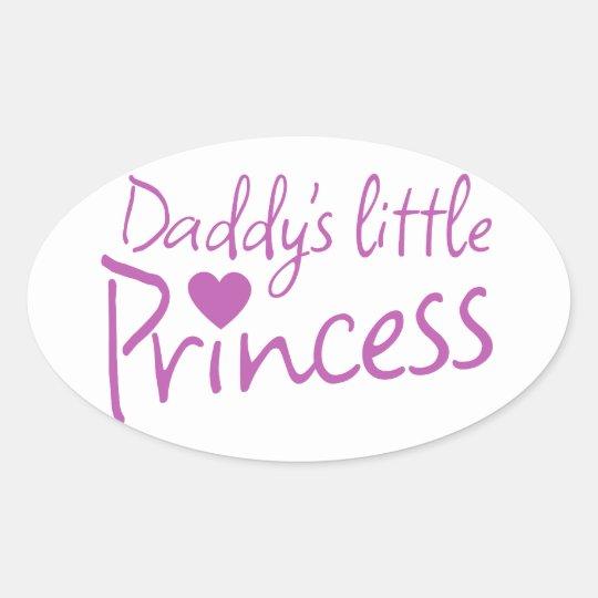 Daddys little princess oval sticker