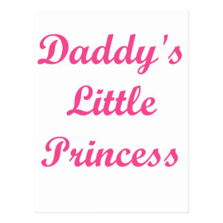 Daddy's Little Princess Postcard