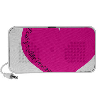 Daddy's Little Princess Mp3 Speakers