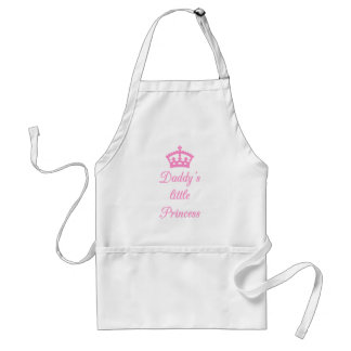 Daddy's little princess, text design with crown apron