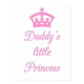 Daddy's little princess, text design with crown postcard