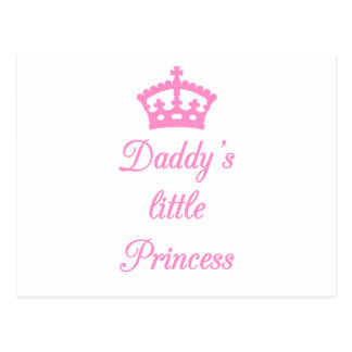 Daddy's little princess, text design with crown post card