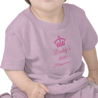 Daddy's little princess, text design with crown t shirt