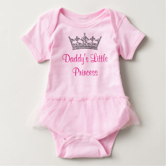 Daddy's Little Princess Tutu One Piece, Customize Baby Bodysuit